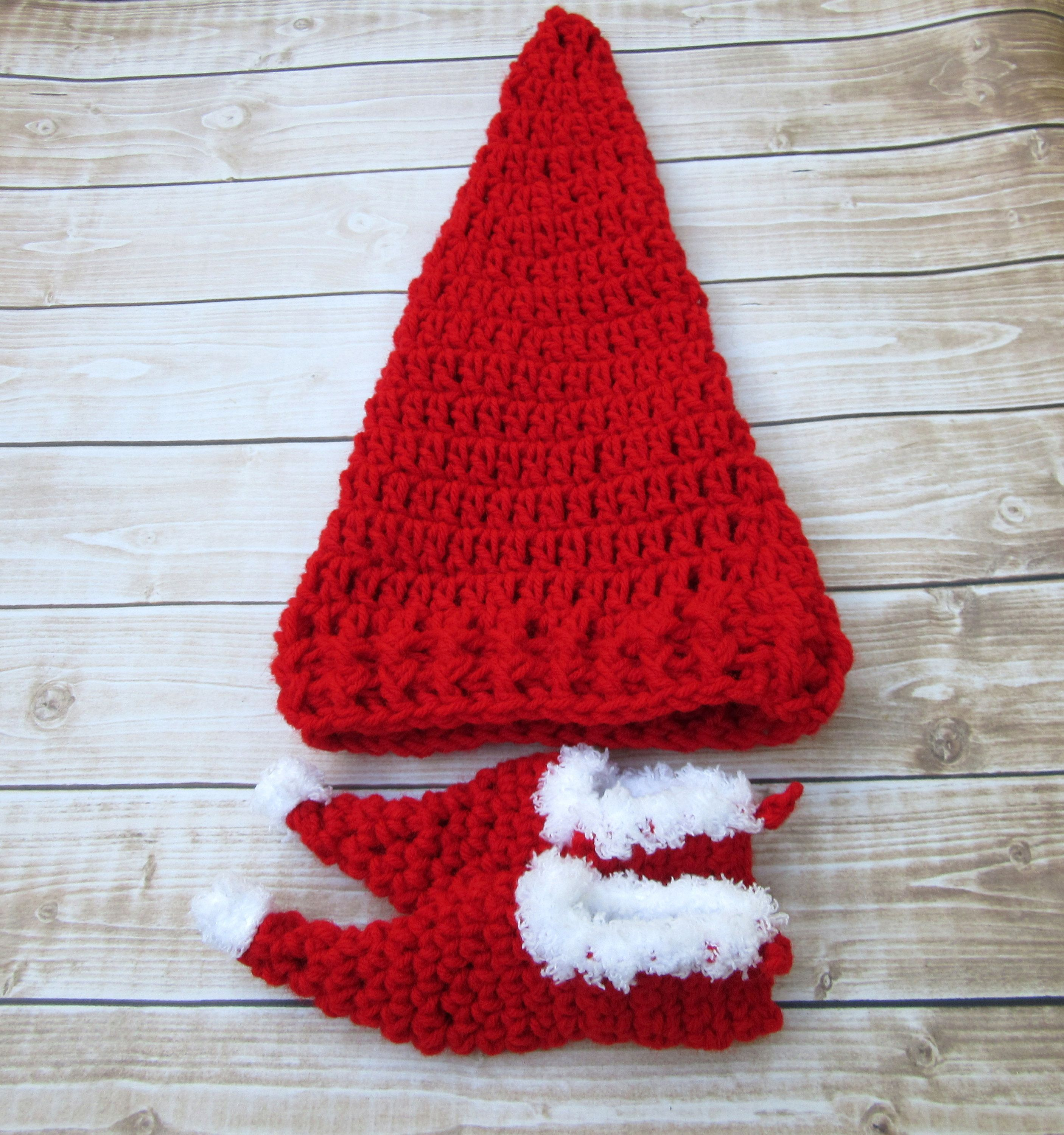 Red Baby Elf Outfit Newborn Christmas Outfit Baby Holiday Photo