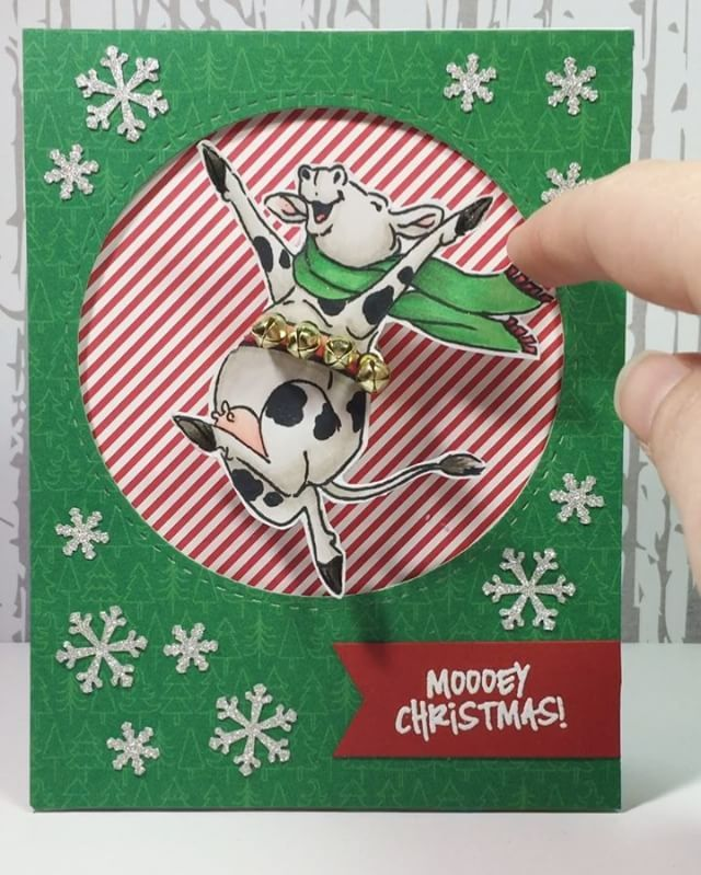 Art Impressions Rubber Stamps: 4789 – Dairy Christmas Set with cow ...