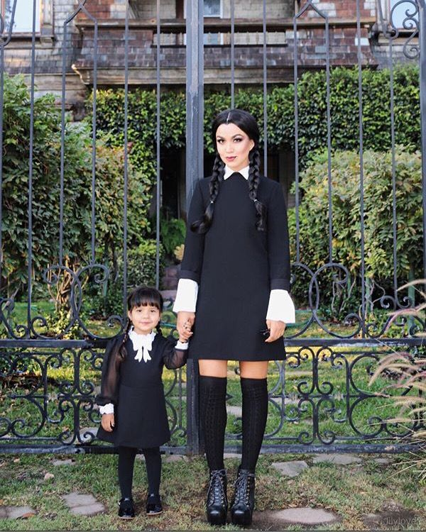 wednesday addams costume halloween 2015 pinterest. Black Bedroom Furniture Sets. Home Design Ideas