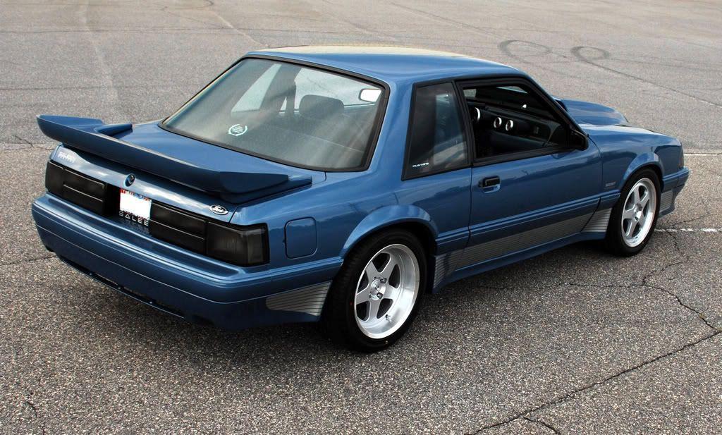 Blue Foxbody Saleen Notchback Mustang Fox Body Mustang Fox Mustang