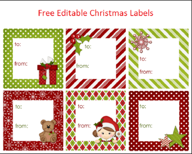 photo about Free Printable Editable Christmas Gift Tags named Free of charge Editable Xmas Labels No cost Most up-to-date xmas