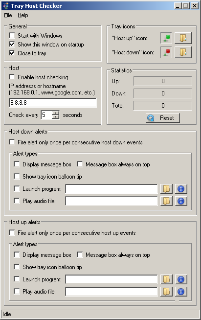 Tray Host Checker 1.0.3 Tiny application which