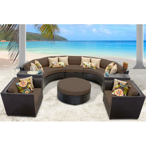 found it at wayfair barbados 8 piece seating group with cushion