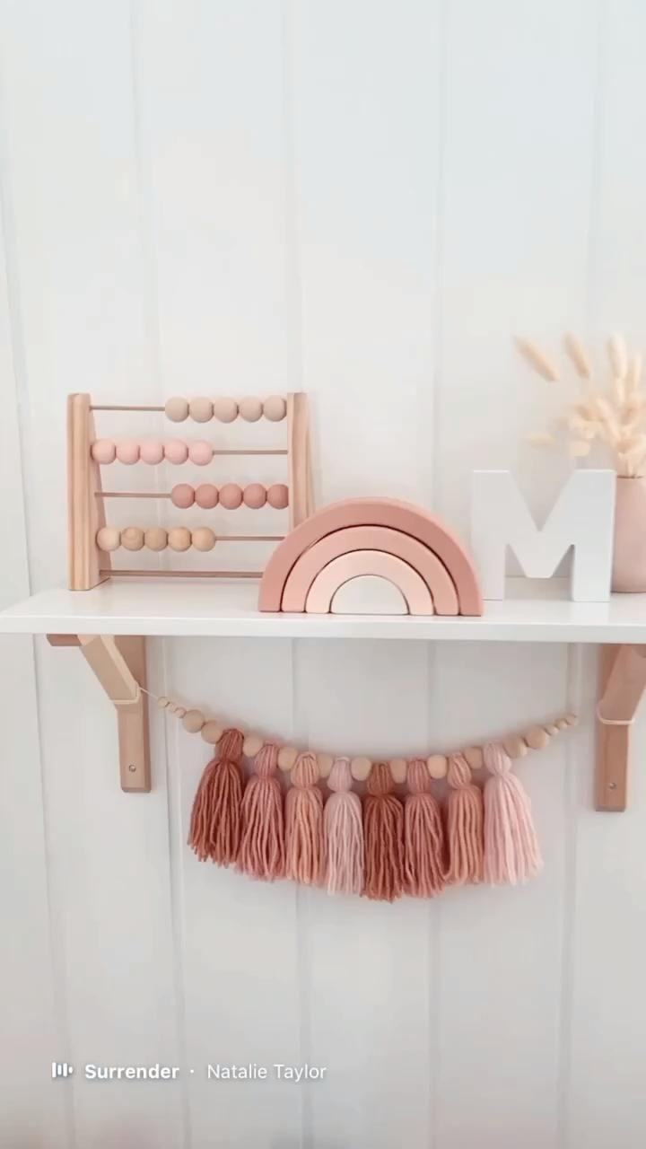 Photo of Girls nursery shelf decor | Girls bedroom ideas | Pink bedroom decor | Kids room shelf | Pink decor