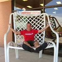 dallas tx worlds largest patio chair in the neighborhood