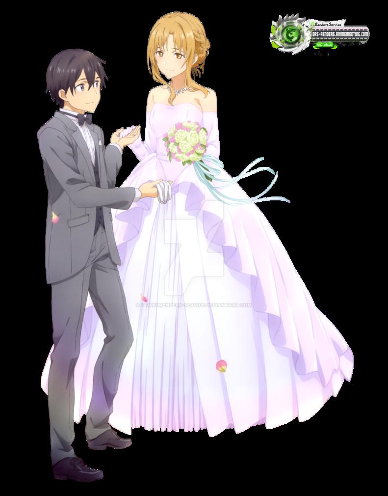 Sword Art Online Asuna Yuuki Kirito Weeding Png By Otakurenders Service Sword Art Online Asuna Sword Art Sword Art Online
