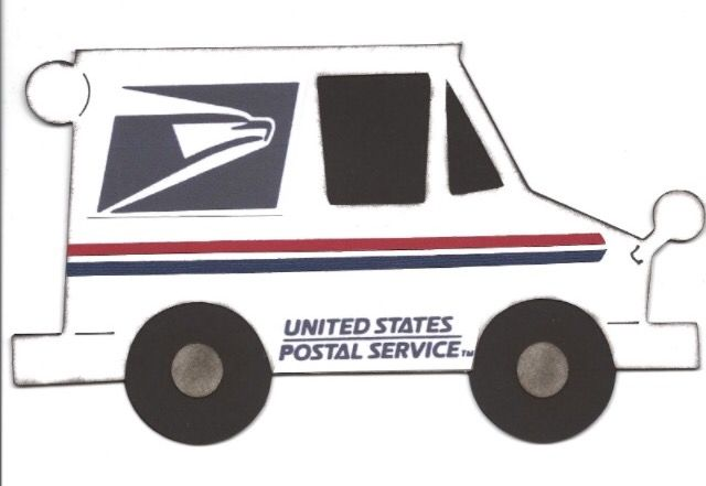 Pin By Lisa Peduzzi On Mailman Mail Truck Truck Crafts Cupcake