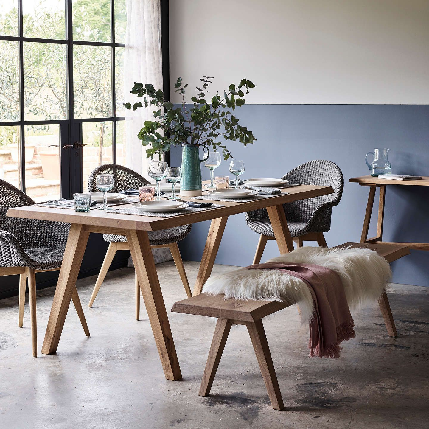 john lewis croft collection lorn 4 seater dining bench oak dining