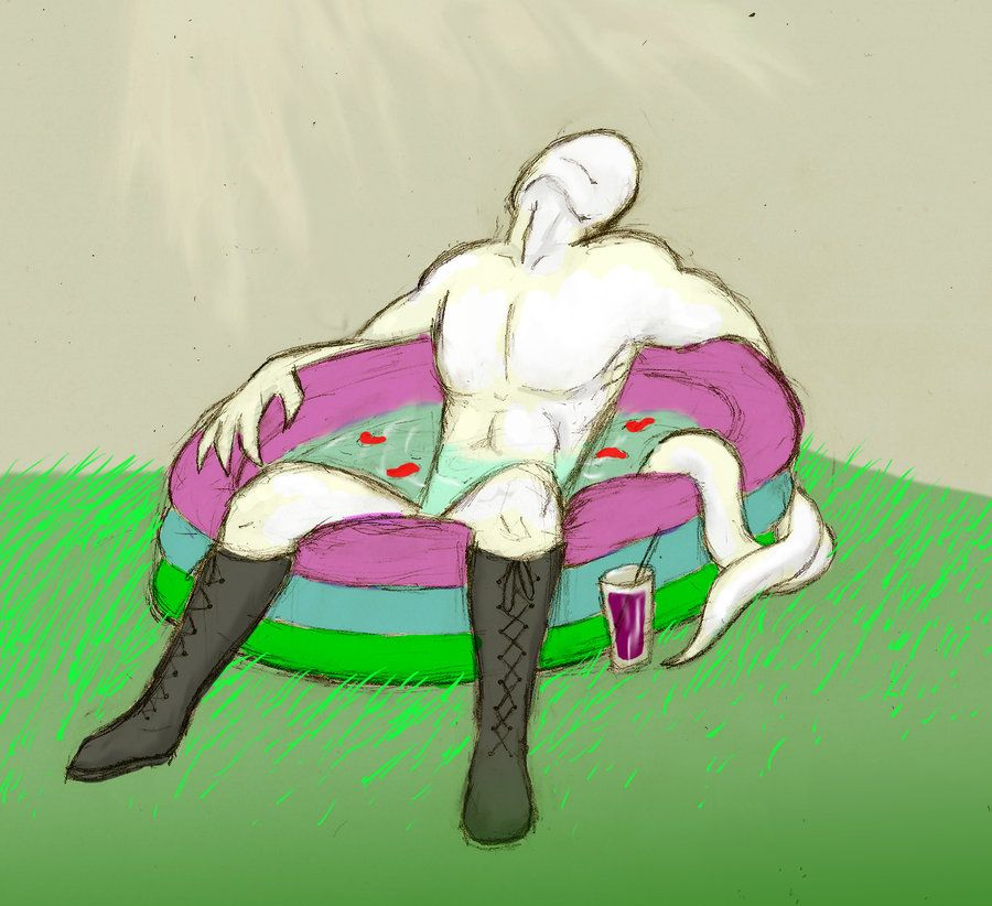 Sexual Offenderman chilling by arcanineryu deviantart com on
