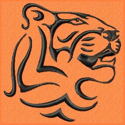Tribal Tiger Machine Embroidery Design Single