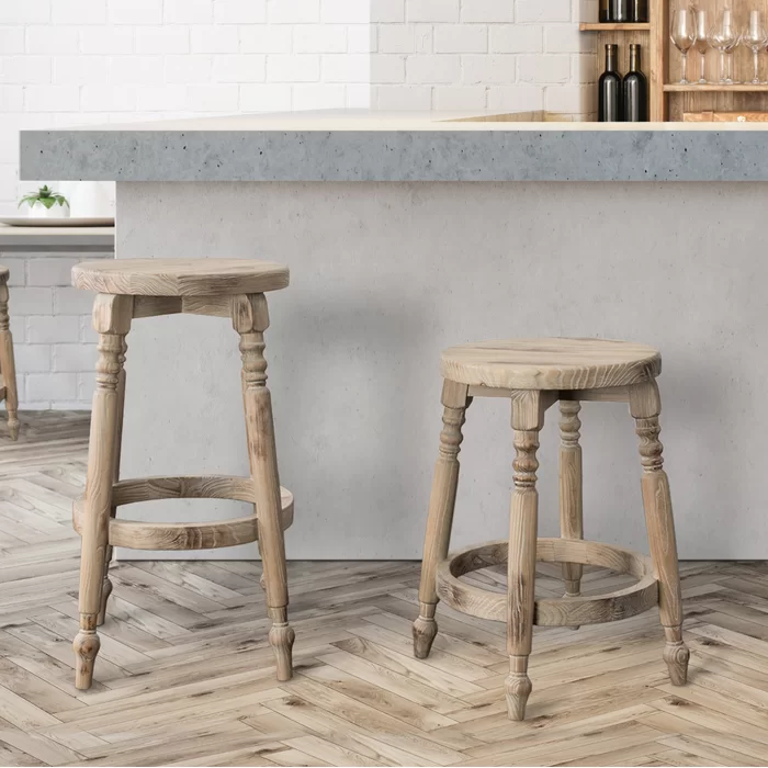 Henson Solid Wood Bar Counter Stool In 2020 Bar Stools Wooden Bar Stools Wood Bar Stools