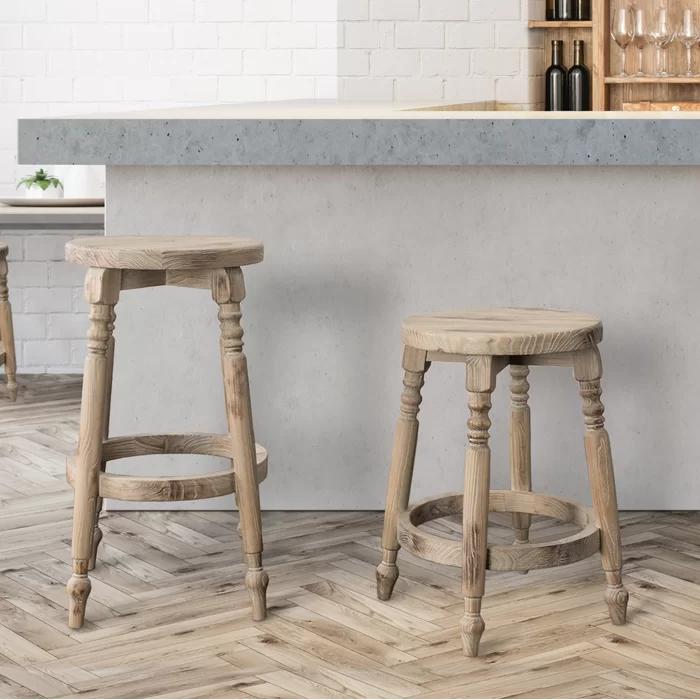 Henson Solid Wood Bar Counter Stool In 2020 Bar Stools Wood