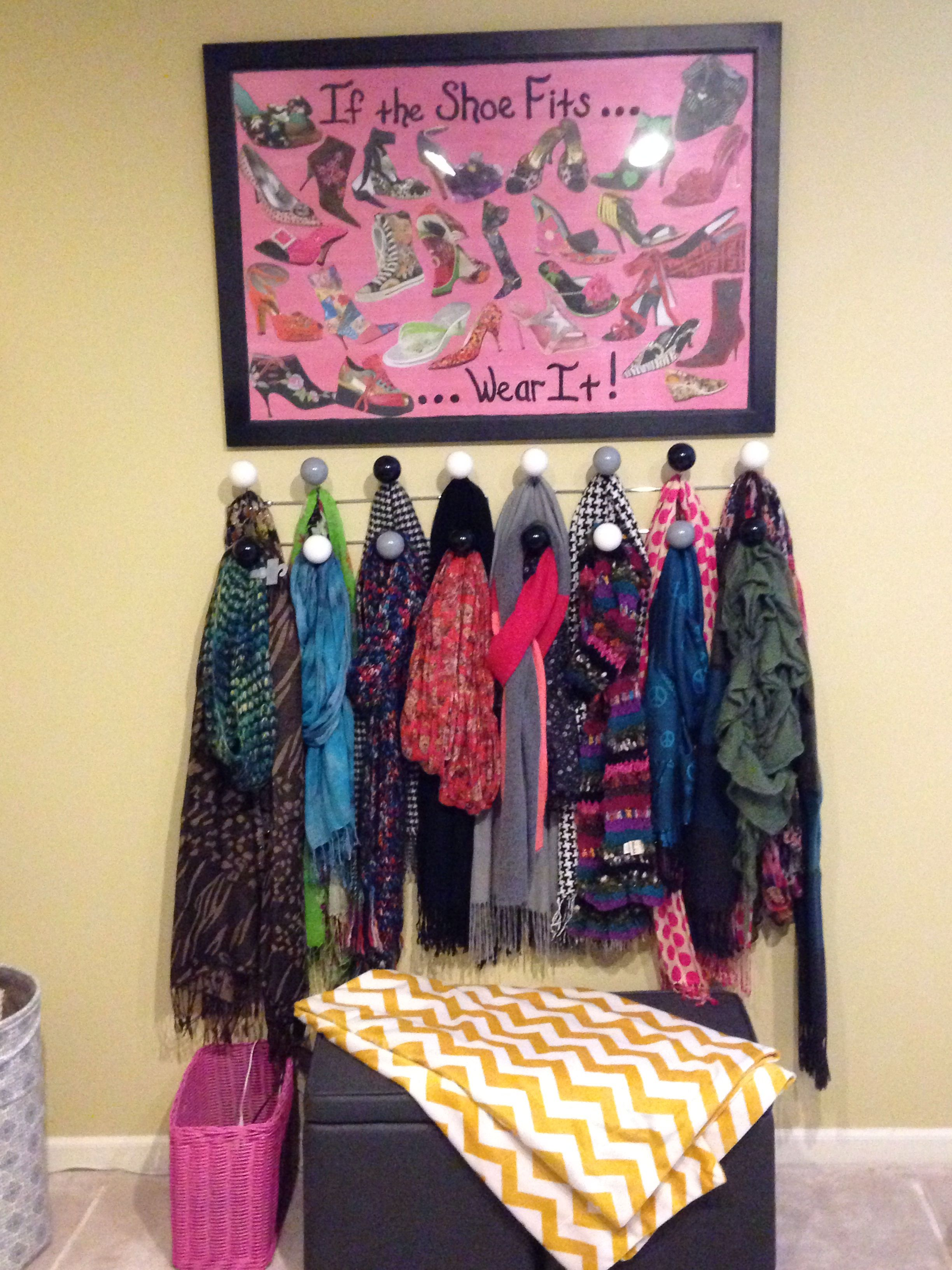 A great way to store scarves and save space in your