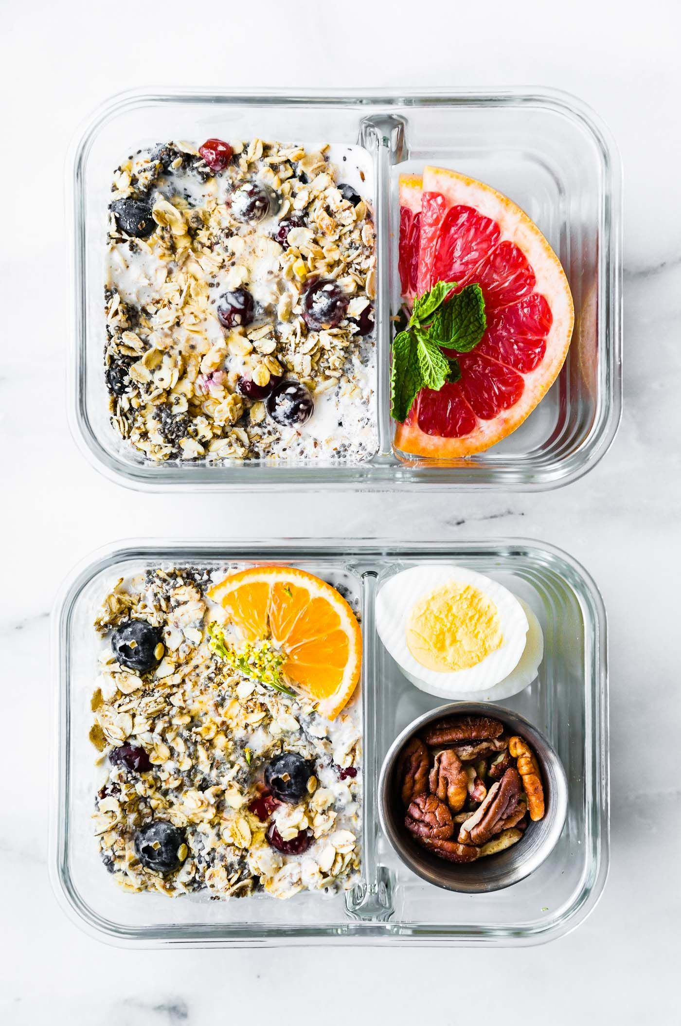 Superfood Overnight Oatmeal Healthy Meal Prep Breakfast Recipe