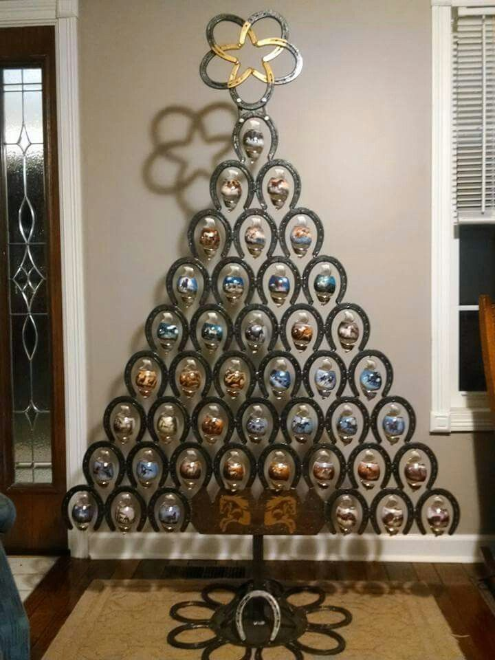 Horse Shoe Christmas Tree Horseshoe Crafts