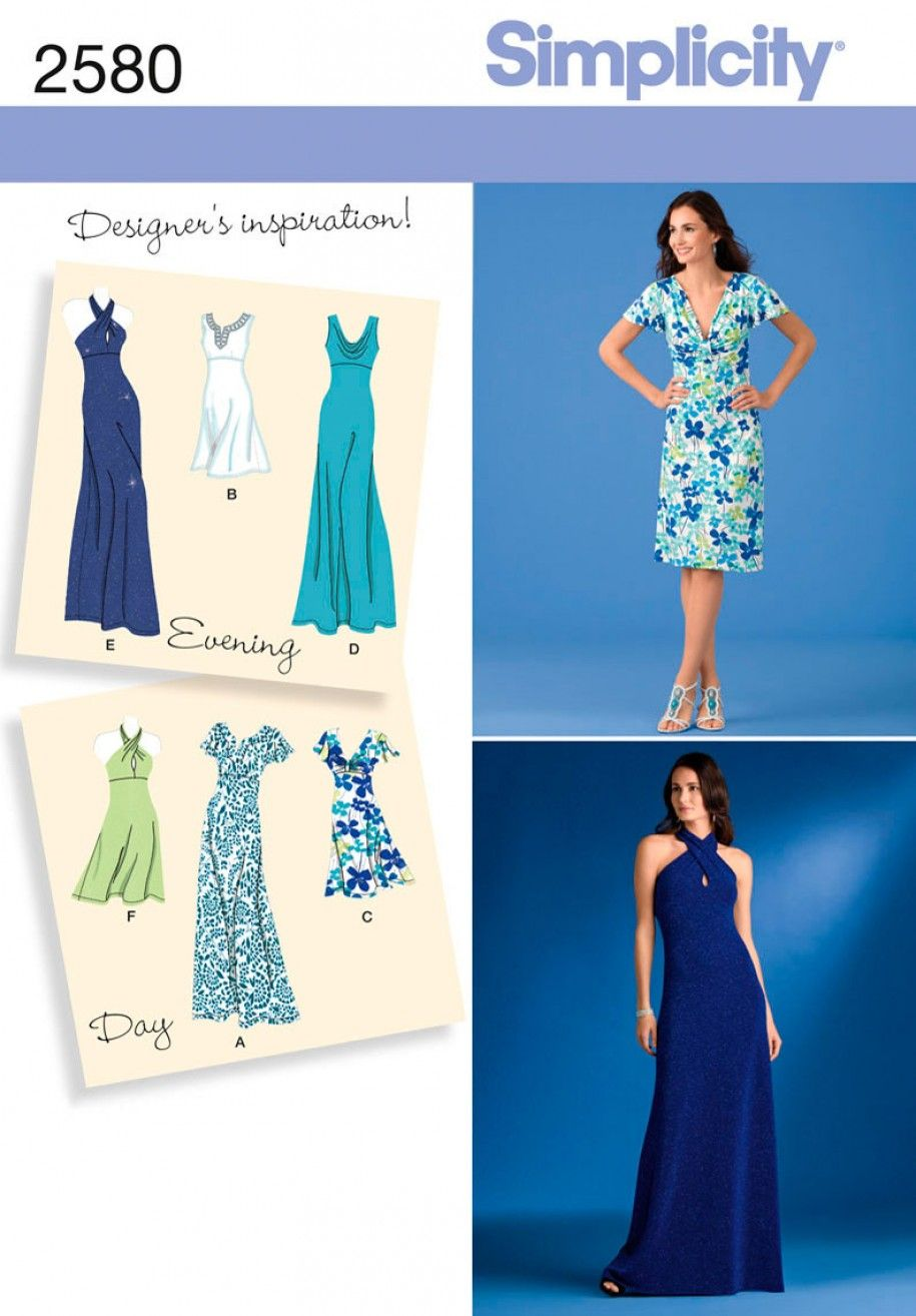 Simplicity 2580 Misses Special Occasion Dress Sewing Pattern ...