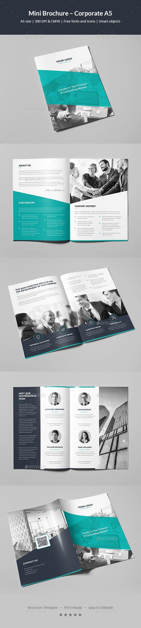 Mini Brochure Corporate A5 Brochures Corporate Brochure And