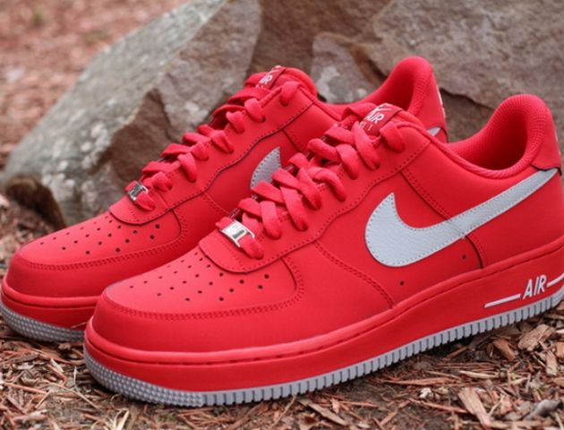 Nike Air Force 1 Low – University Red / Strata Grey ...