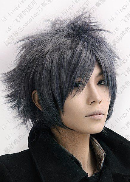 Black Gray Hair Google Search Long Hair Styles Men Anime Haircut Anime Hairstyles In Real Life