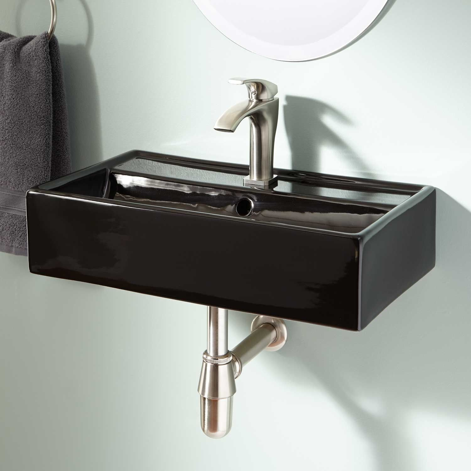 A Small Wall Mount Sink Works Great In The Powder Room Magali