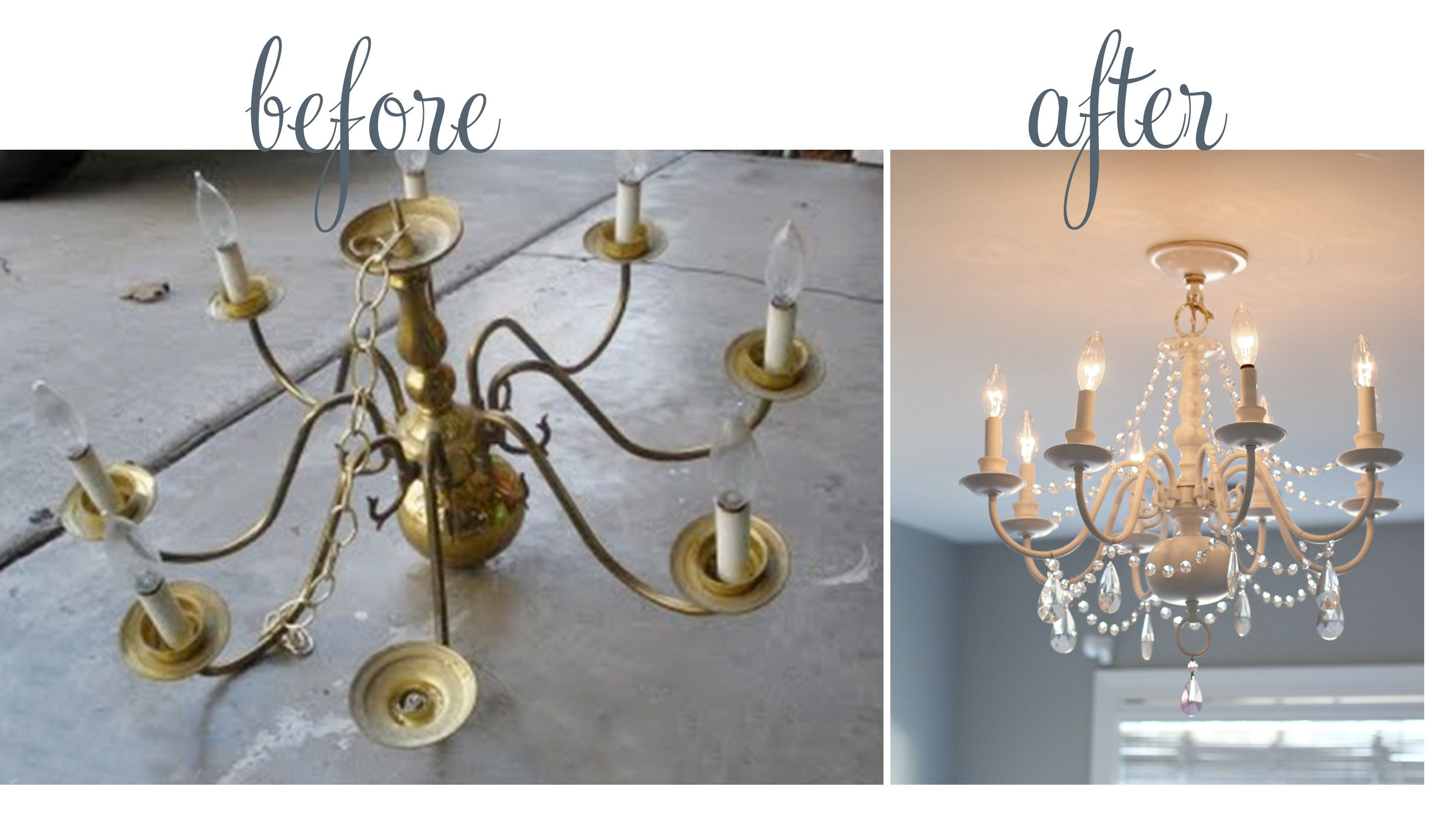 Such a beautiful diy done by a very creative friend kiddie decor i like how the crystals hang on this diy chandelier redo arubaitofo Images