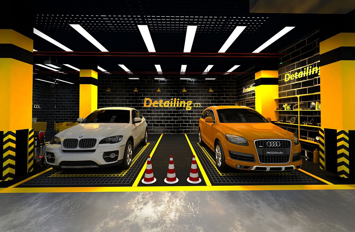 Car care center design 2019 on behance in 2020 car