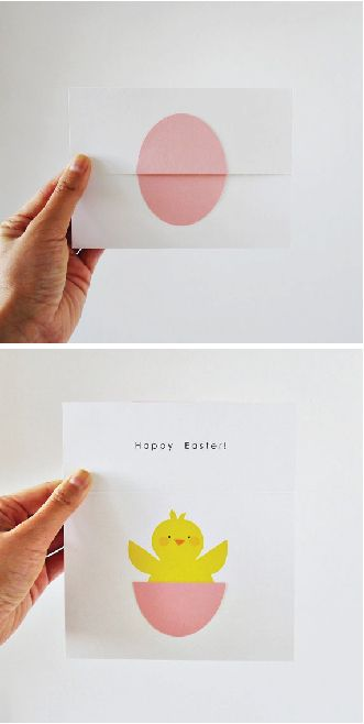Surprise Egg With Chick Happy Easter \/ Happy Spring card! By - easter postcard template