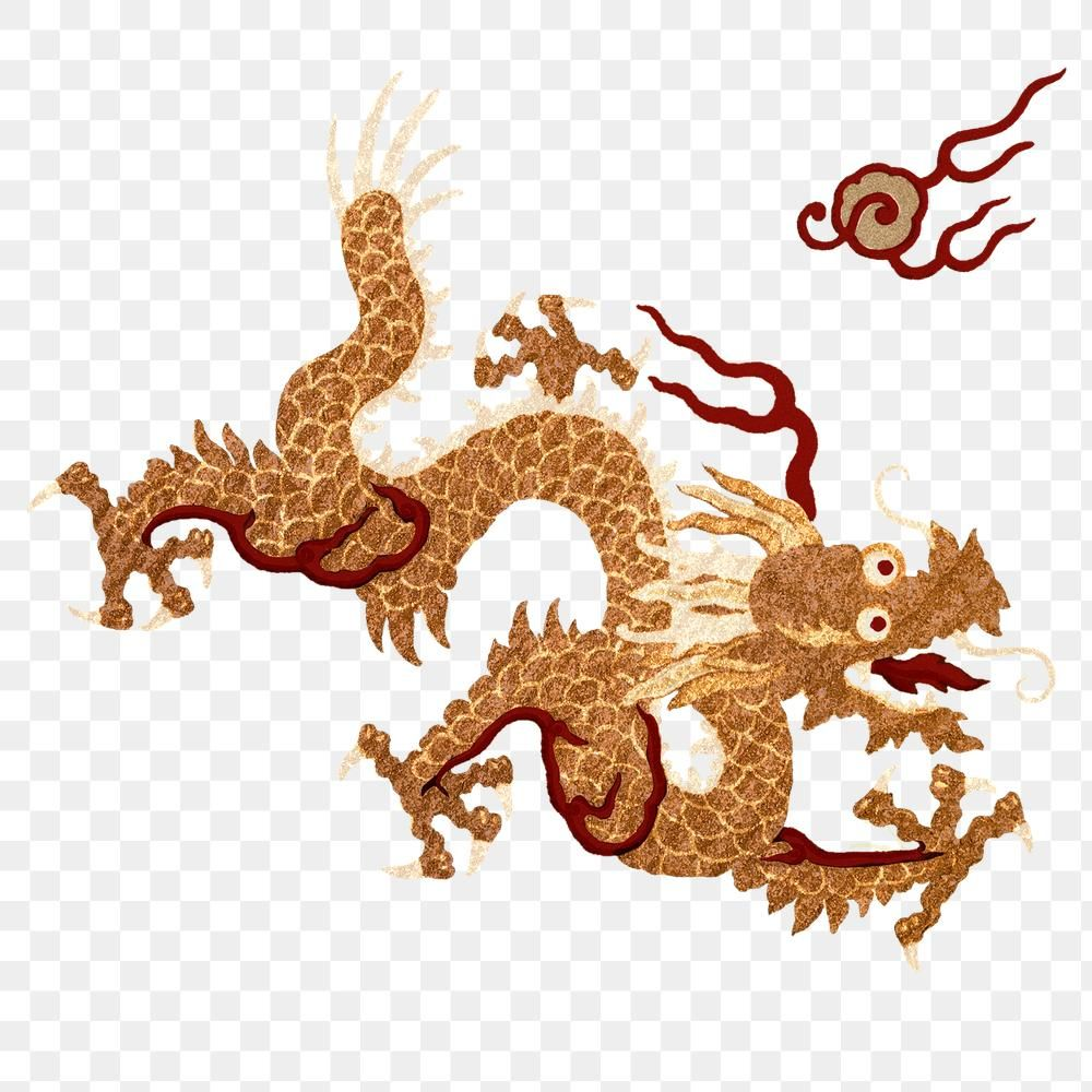 Download Premium Png Of Chinese Art Gold Png Dragon Sticker Decorative Chinese Art Art Logo Art