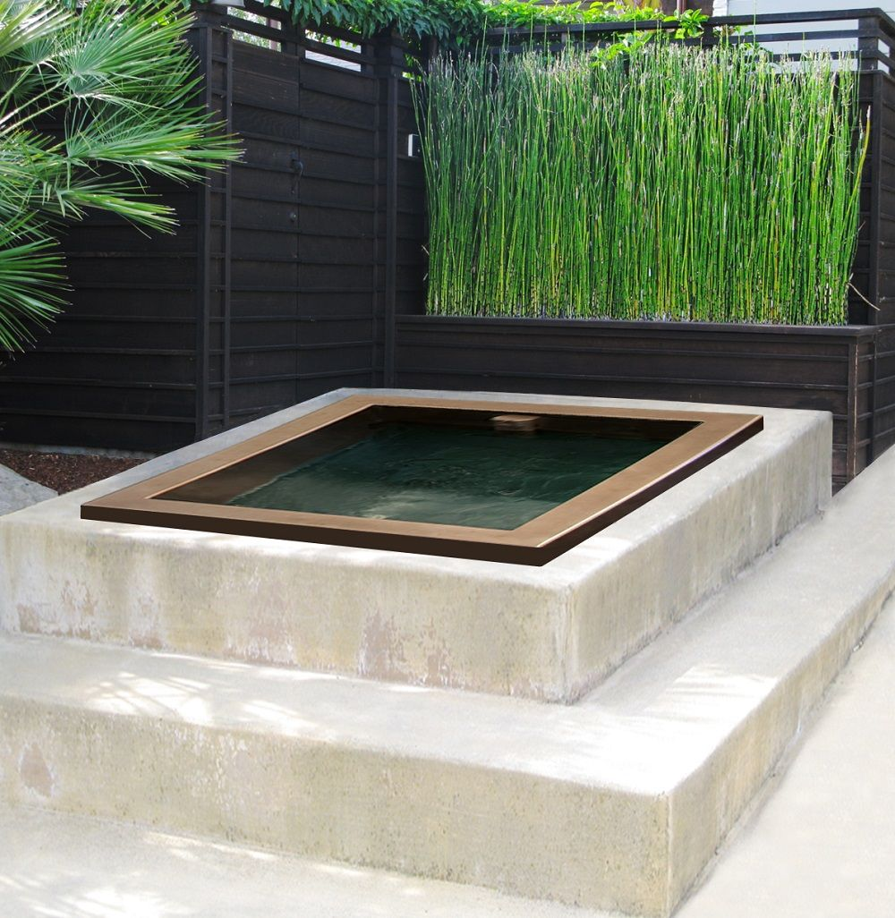 Cold plunge pools plunge pool diamond spas for the for Garden plunge pool
