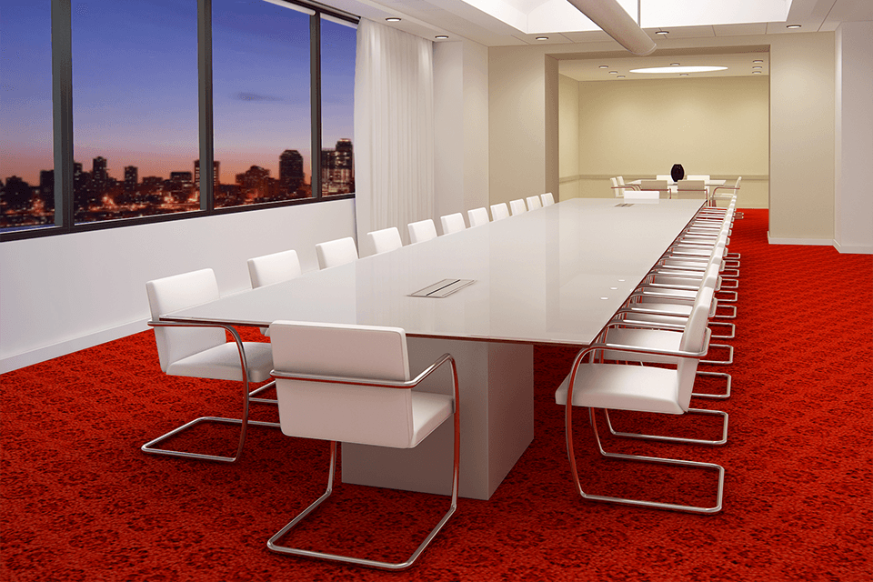 Fulbright Glass Backpainted Glass Conference Table