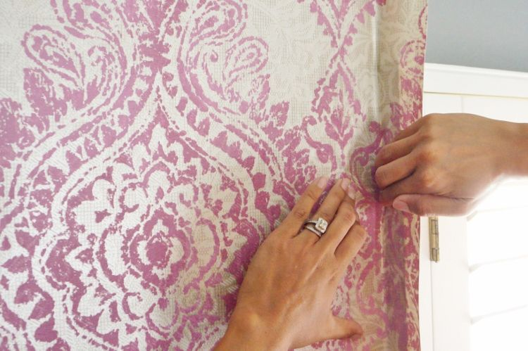 How to Hang Wallpaper with a Pattern and Giveaway