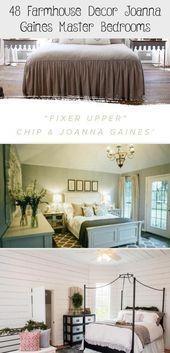 #bedroomdecor 48 Farmhouse Decor Joanna Gaines Master Bedroom Erin Blog # nailsa