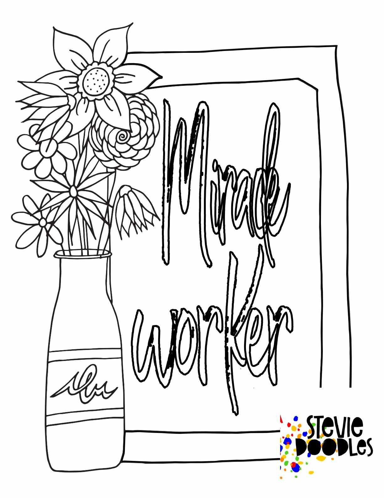 3 Free Coloring Pages Way Maker Miracle Worker Promise Keeper Stevie Doodles Free Coloring Pages Christian Coloring Bible Verse Coloring