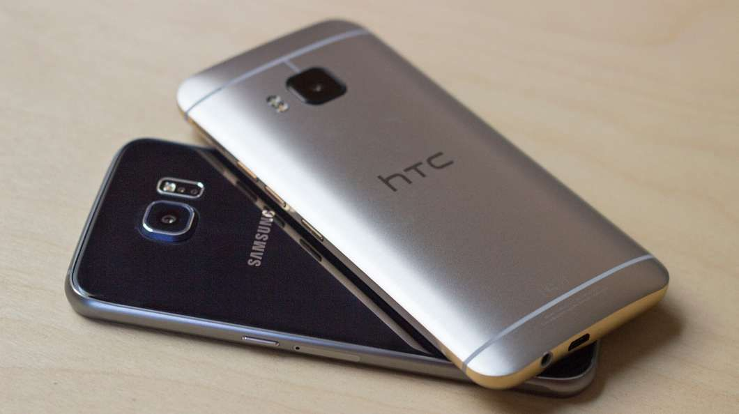 Trying to decide between the HTC One M9 (top) and Samsung Galaxy S6? Gizmag goes hands-on to compare the two