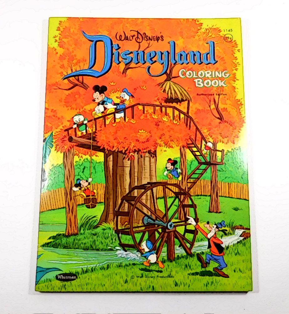 Walt Disney Disneyland Coloring Book 1964 Unused Uncolored