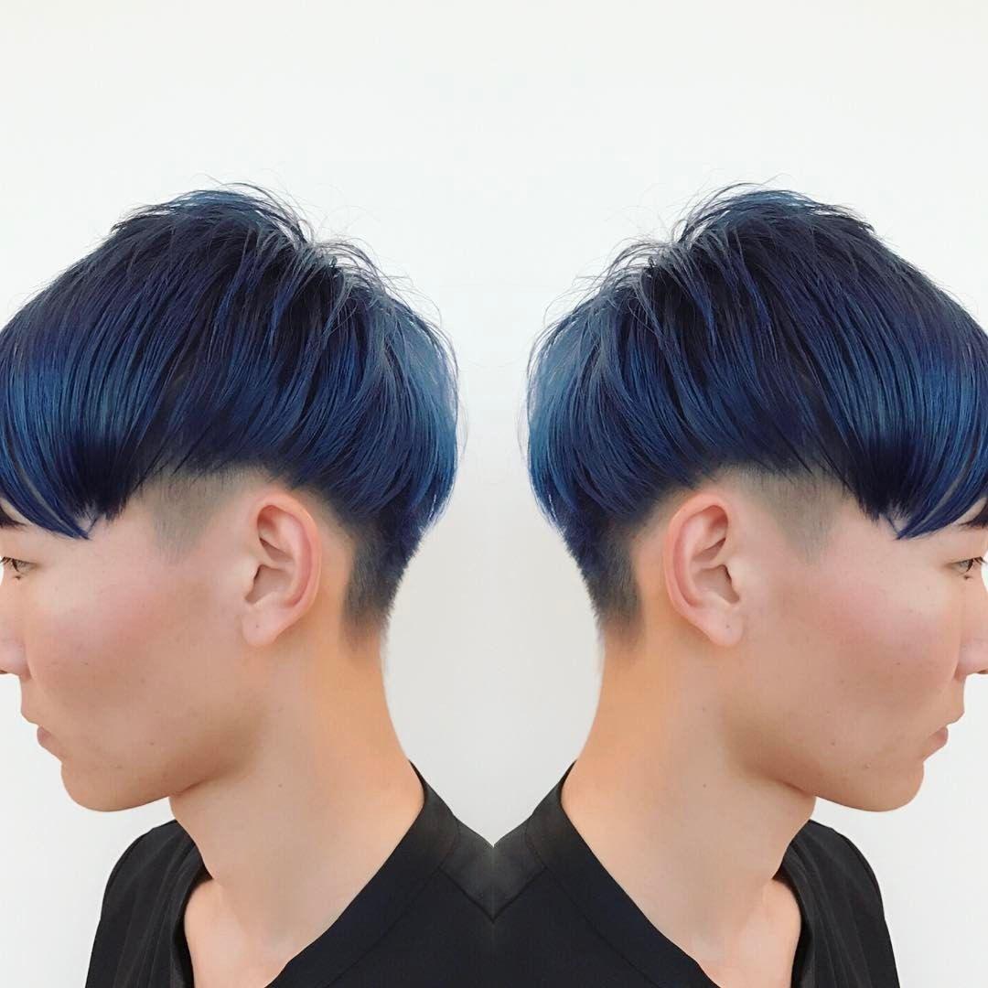 ブルーと刈り上げのコンビネーションが好き Vetica Hair ヘア