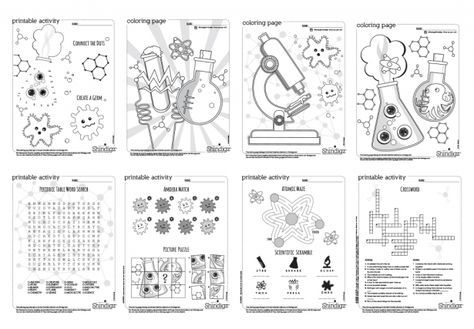 Entertain the kids with silly games, coloring pages and other - new coloring pages about science