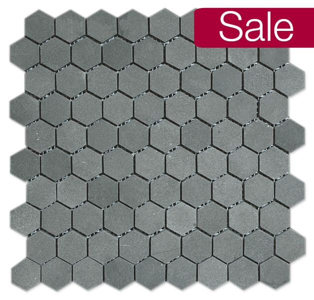 Basalt Hexagon Mosaic 1 Mesh Mount
