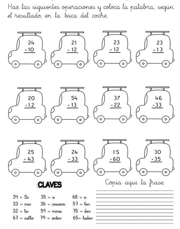 Sumas y restas para niños para imprimir - Imagui | Matematicas ...