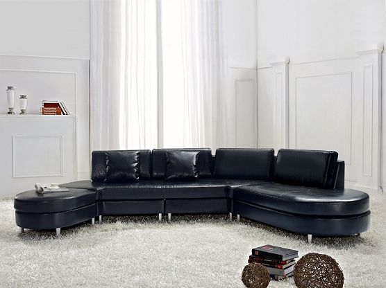 Luxurious Leather Sectional Sofa Copenhagen Blackex Factury At Fair Price Right To Return Within 365 Days
