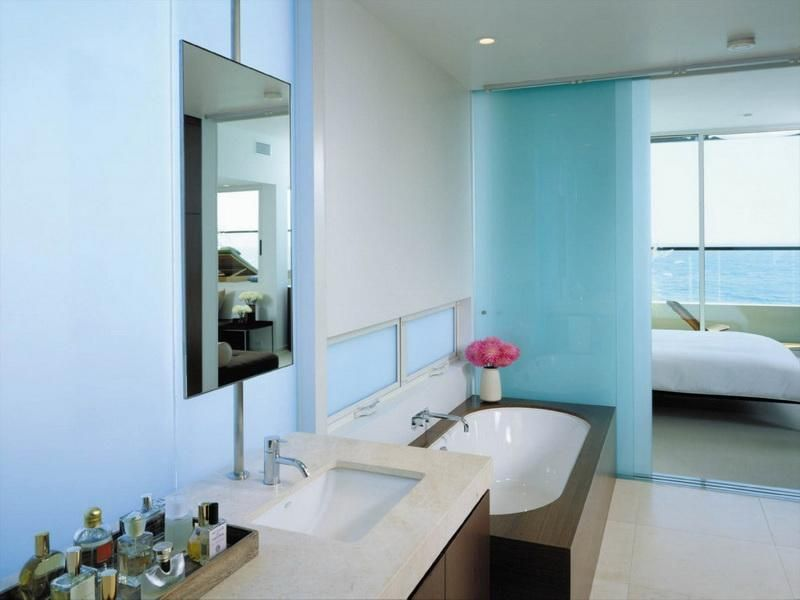 Pale Blue Green Paint Color Bathroom - Budget Bathroom Ideas