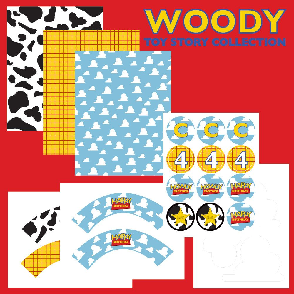 Printable Woody Toy Story FULL Birthday Party Collection By Wants And Wishes 2000 Via