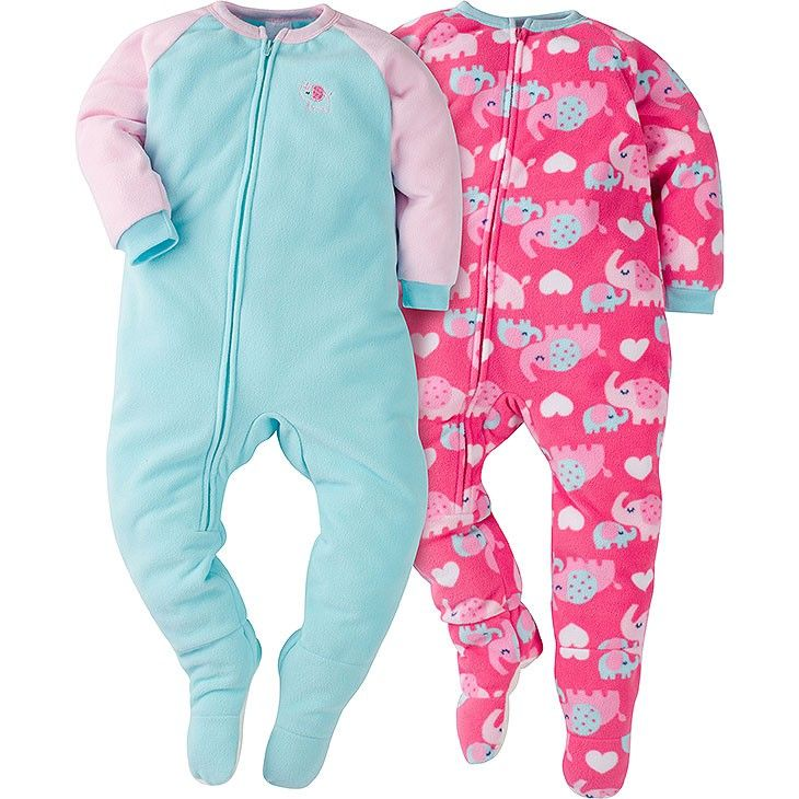 3967d7f0fe46 Wrap sweet little girl in cozy warmth with this 2-pack of girls ...