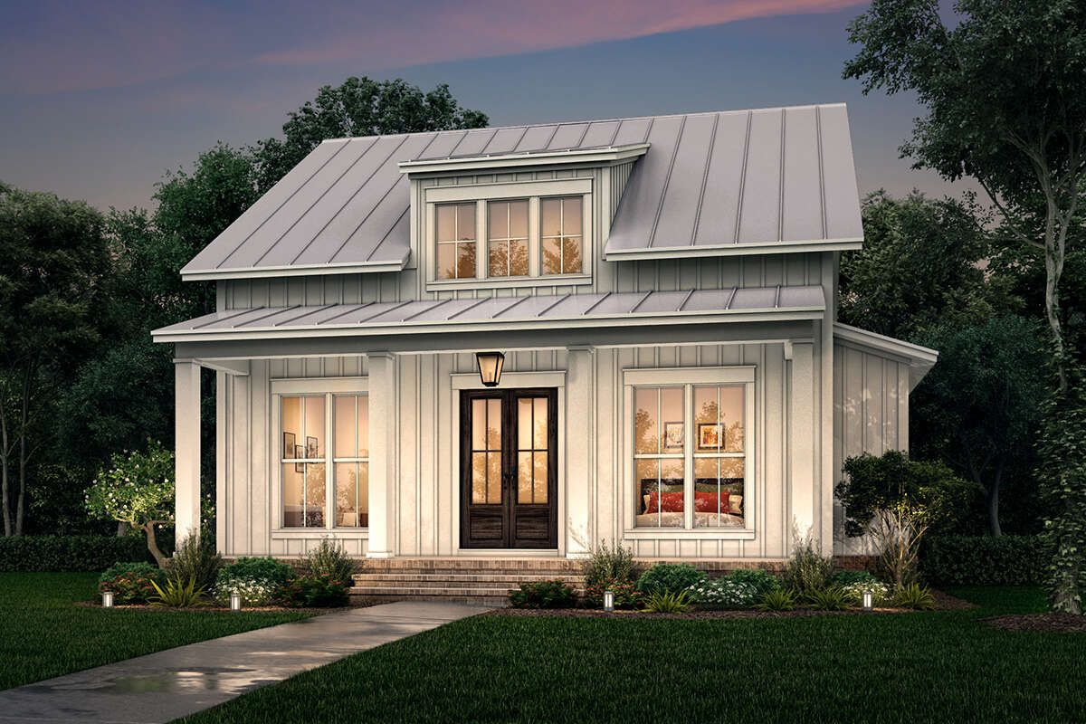 House Plan 04100227 Modern Farmhouse Plan 1,257 Square