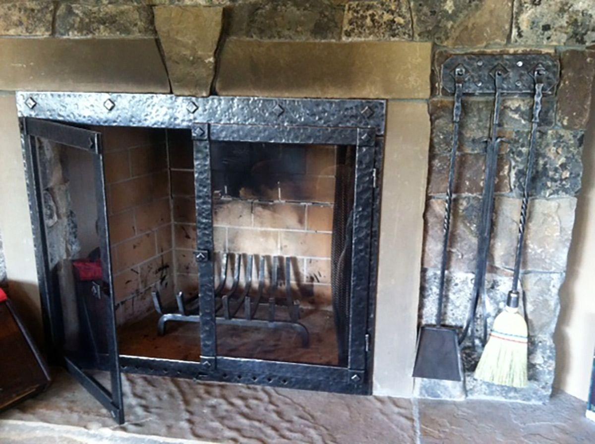 Custom Metal Fireplace Doors Big Timberworks Bozeman Mt Fireplace Doors Metal Fireplace Fireplace