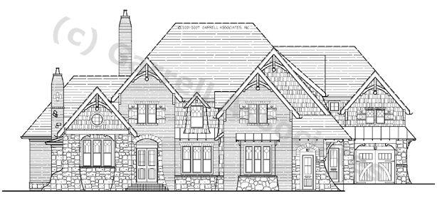 07034 Adirondack Lodge House Plan Front Elevation Craftsman Style House Plans Mountain Style House Plans Floor Plans House Plans Craftsman Style Homes