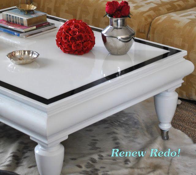 Renew Redo Omg High Gloss Coffee Table Makeover Coffee Table Makeover Table Makeover Painted Coffee Tables