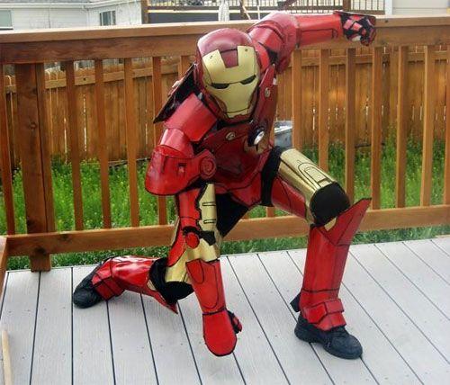 Homemade Iron Man Costume For Kids