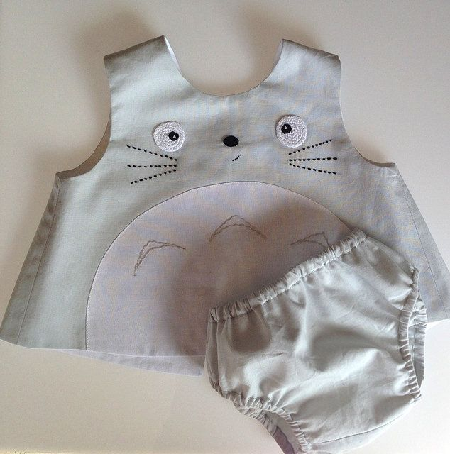 beef9d55dae8 totoro dress with diaper cover 6-9months   Totoro   Pinterest   Totoro