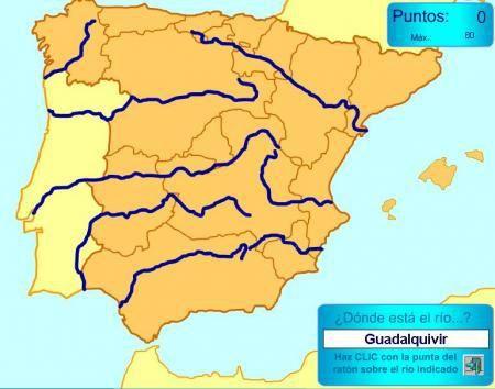 Rios España Mapa Fisico.Rios De Espana Mapas Y Mapas Interactivos Rios De Espana